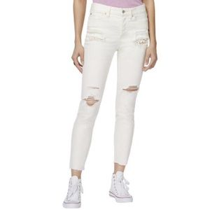 NWT Free People Distressed Skinny Ankle Jeans